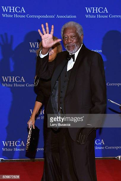 Actor Morgan Freeman attends the 102nd White House Correspondents' Association Dinner on April 30 2016 in Washington DC