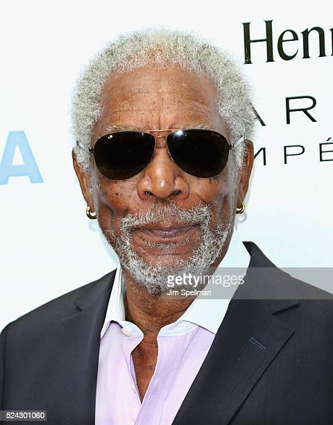 Actor Morgan Freeman attends the 43rd Chaplin Award Gala on April 25 2016 in New York City