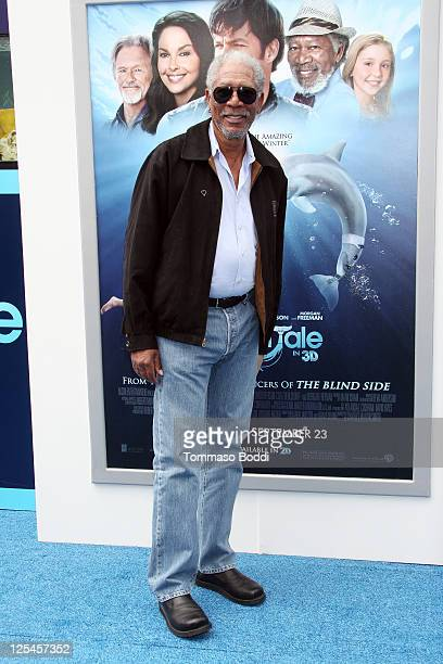 """Actor Morgan Freeman attends the """"Dolphin Tale"""" Los Angeles Premiere at Mann Village Theatre on September 17, 2011 in Westwood, California."""