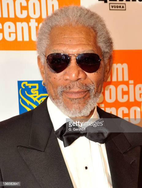 Actor Morgan Freeman attends The Film Society of Lincoln Center's presentation of the 38th Annual Chaplin Award at Alice Tully Hall on May 2 2011 in...