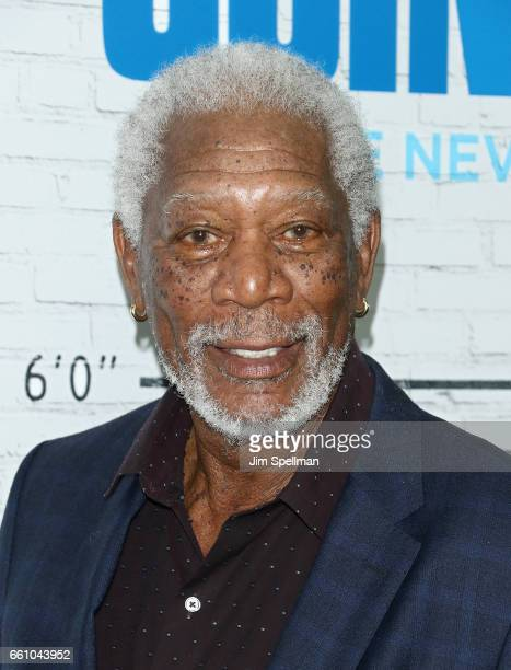 Actor Morgan Freeman attends the 'Going In Style' New York premiere at SVA Theatre on March 30 2017 in New York City