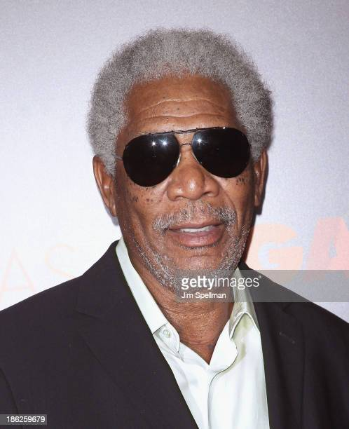 """Actor Morgan Freeman attends the """"Last Vegas"""" premiere at the Ziegfeld Theater on October 29, 2013 in New York City."""