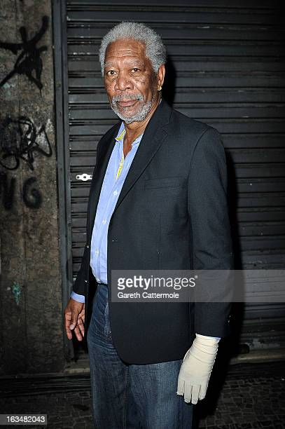 Actor Morgan Freeman attends the Laureus Welcome Party at the Rio Scenarium during the 2013 Laureus World Sports Awards on March 10 2013 in Rio de...