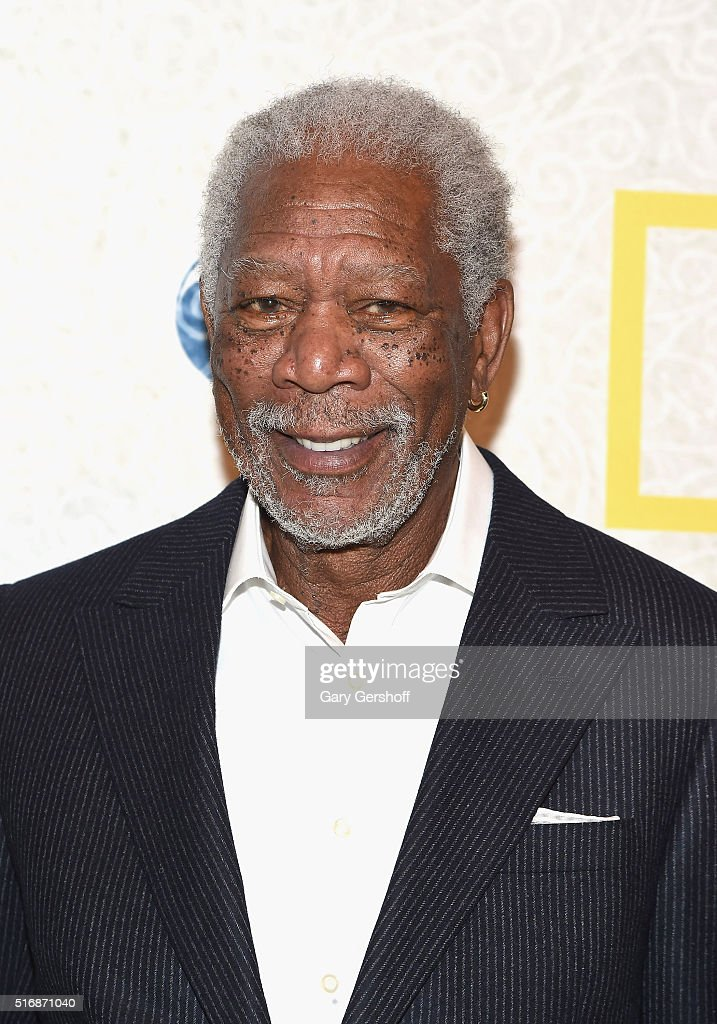 Actor Morgan Freeman attends the National Geographic 'The Story Of God' with Morgan Freeman world premiere at Jazz at Lincoln Center on March 21, 2016 in New York City.