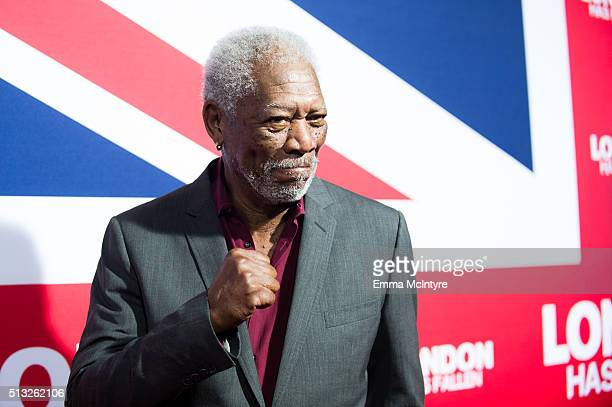 Actor Morgan Freeman attends the premiere of Focus Features' 'London Has Fallen' at ArcLight Cinemas Cinerama Dome on March 1 2016 in Hollywood...