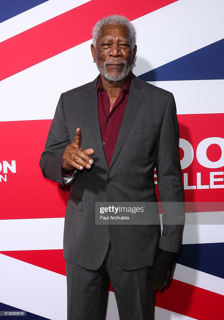 Actor Morgan Freeman attends the premiere of 'London Has Fallen' at ArcLight Cinemas Cinerama Dome on March 1, 2016 in Hollywood, California.