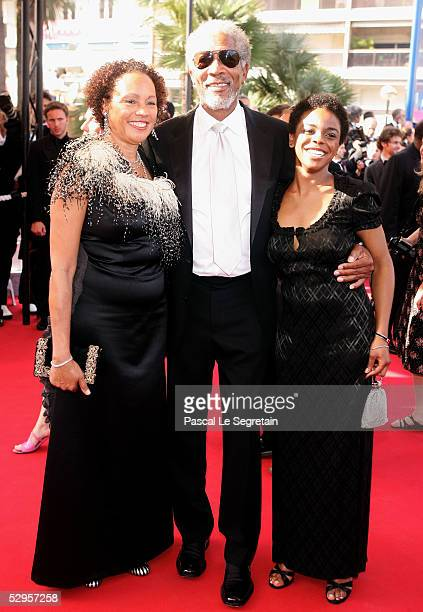"Actor Morgan Freeman , his wife Myrna Colley-Lee and daughter Deena attend the screening of ""Three Burials of Melquiades Estrada"" at the Grand..."
