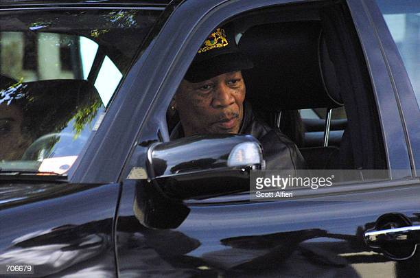 Actor Morgan Freeman leaves the Ivy Restaurant March 21 2002 in Beverly Hills CA