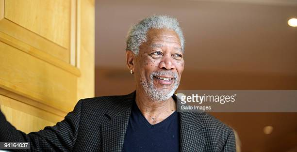 Actor Morgan Freeman poses for photographers during a media conference in Johannesburg on Tuesday 8 December 2009 in Johhansburgh Journalists were...