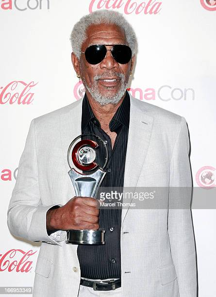 Actor Morgan Freeman, recipient of the Cinema Icon Award arrives at the CinemaCon Big Screen Achievement Awards at the Pure Nightclub at Caesars...