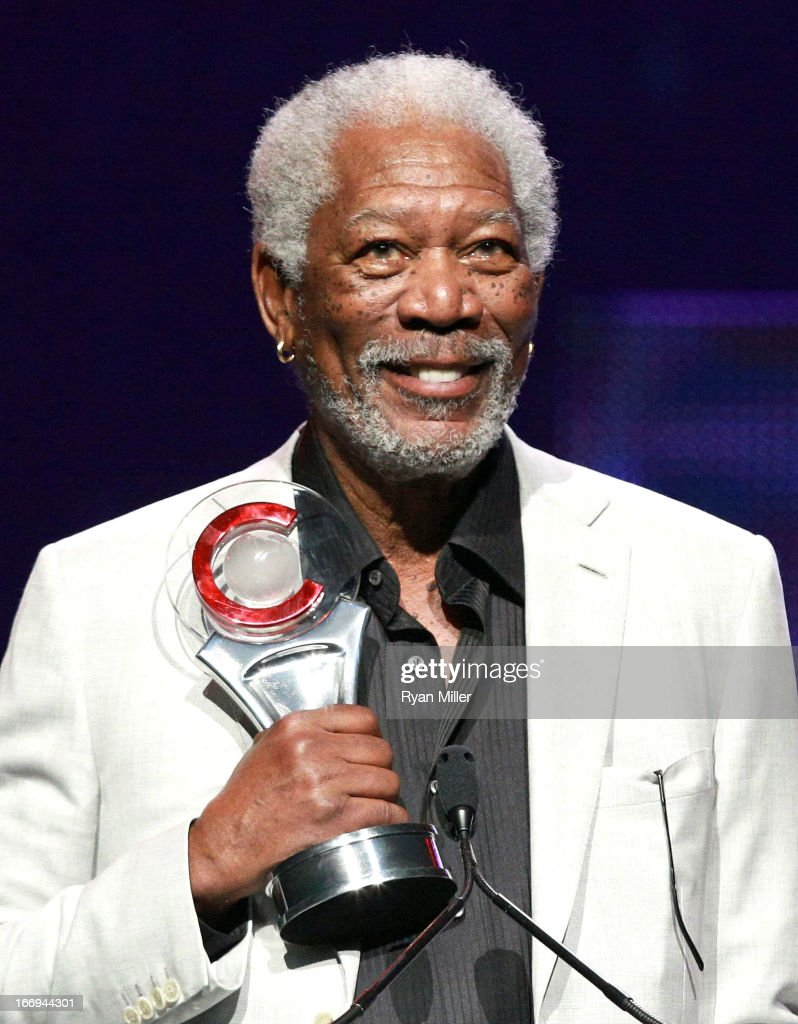 Actor Morgan Freeman, recipient of the Cinema Icon Award, speaks onstage at the CinemaCon 2013 Final Night Awards at Caesars Palace during CinemaCon, the official convention of the National Association of Theatre Owners on April 18, 2013 in Las Vegas, Nevada.