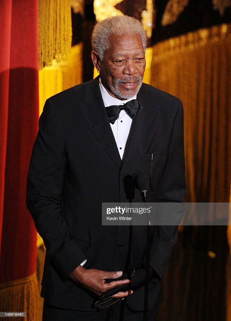 Actor Morgan Freeman speaks onstage during the 84th Annual Academy Awards held at the Hollywood & Highland Center on February 26, 2012 in Hollywood, California.