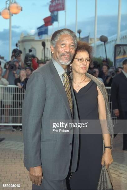 Actor Morgan Freeman with his wife Myrna