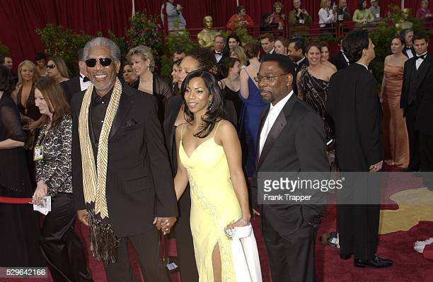 Actor Morgan Freeman with wife Myrna and son Alfonso arrive at the 77th Annual Academy Awards�� at the Kodak Theatre
