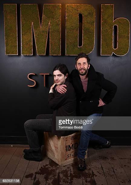 Actor Morgan Krantz of XX and filmmaker Ben Berman attend The IMDb Studio featuring the Filmmaker Discovery Lounge presented by Amazon Video Direct...