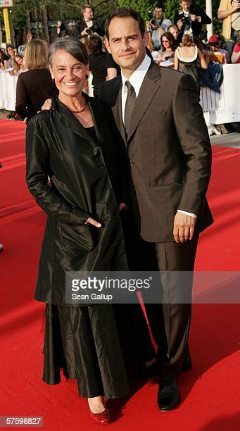 Actor Moritz Bleibtreu and his mother Monica Bleibtreu arrive at the German Film Awards at the Palais am Funkturm May 12 2006 in Berlin Germany