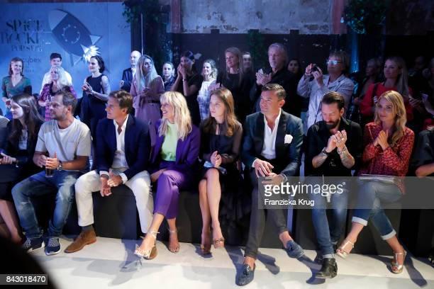 Actor Moritz Bleibtreu Archie Drury supermodel and actress Karolina Kurkova designer Anna K Martin Pos singer Alec Voelkel and his wife Johanna...