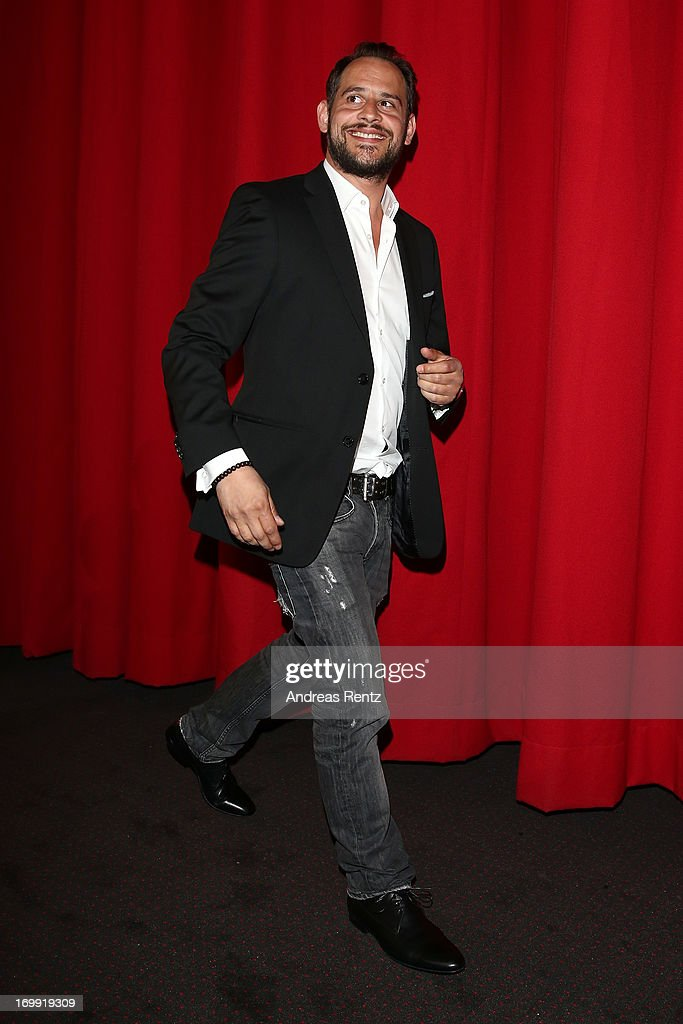 Actor Moritz Bleibtreu attends the stage presentation at 'WORLD WAR Z' Germany Premiere at Sony Centre on June 4, 2013 in Berlin, Germany.
