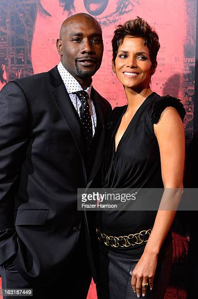 Actor Morris Chestnut and actress Halle Berry arrive at the premiere Of Tri Star Pictures' The Call at ArcLight Cinemas on March 5 2013 in Hollywood...