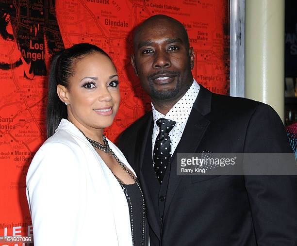 Actor Morris Chestnut and Pam Byse arrive at the Los Angeles premiere 'The Call' at ArcLight Hollywood on March 5 2013 in Hollywood California