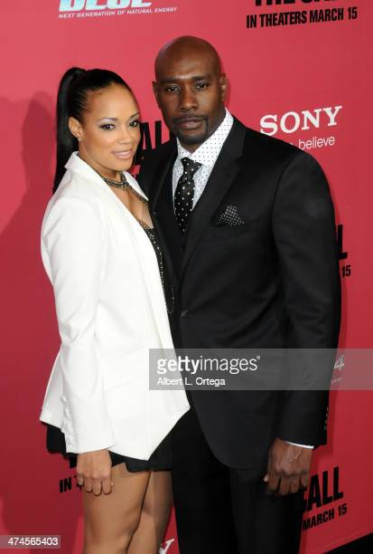 Actor Morris Chestnut and Pam Byse arrive for Tri Star Pictures' The Call held at ArcLight Cinemasl on March 5 2013 in Hollywood California