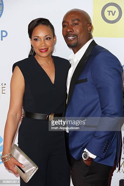 Actor Morris Chestnut and Pam Byse attend the 47th NAACP Image Awards presented by TV One at Pasadena Civic Auditorium on February 5 2016 in Pasadena...