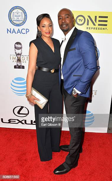 Actor Morris Chestnut and Pam Byse onstage during the 47th NAACP Image Awards presented by TV One at Pasadena Civic Auditorium on February 5 2016 in...