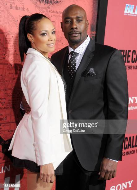 Actor Morris Chestnut and wife Pam Byse arrive at the Los Angeles premiere of The Call at ArcLight Hollywood on March 5 2013 in Hollywood California