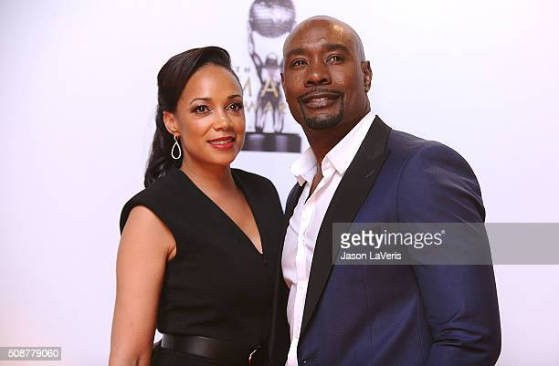 Actor Morris Chestnut and wife Pam Byse attend the 47th NAACP Image Awards at Pasadena Civic Auditorium on February 5 2016 in Pasadena California