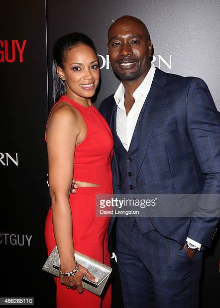 Actor Morris Chestnut and wife Pam Byse attend the premiere of Screen Gems' The Perfect Guy at the WGA Theater on September 2 2015 in Beverly Hills...