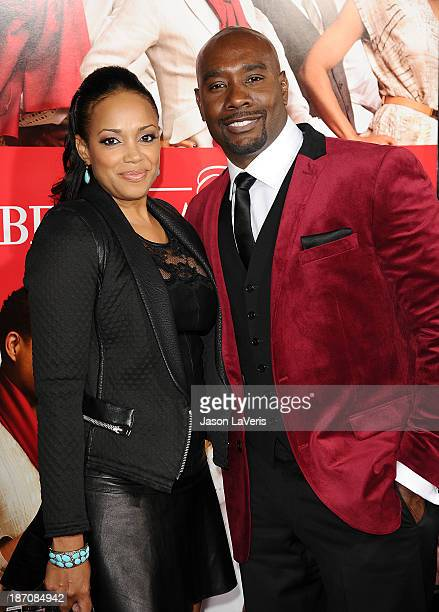 Actor Morris Chestnut and wife Pam Byse attend the premiere of The Best Man Holiday at TCL Chinese Theatre on November 5 2013 in Hollywood California