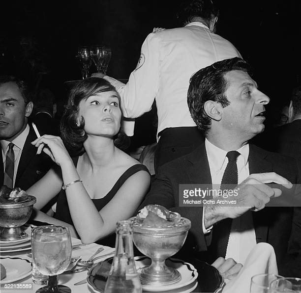 Actor Mort Sahl and Yvonne Craig attend an event in Los AngelesCA