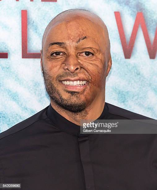Actor motivational speaker and former US Army soldier JR Martinez attends 'The Shallows' World Premiere at AMC Loews Lincoln Square on June 21 2016...