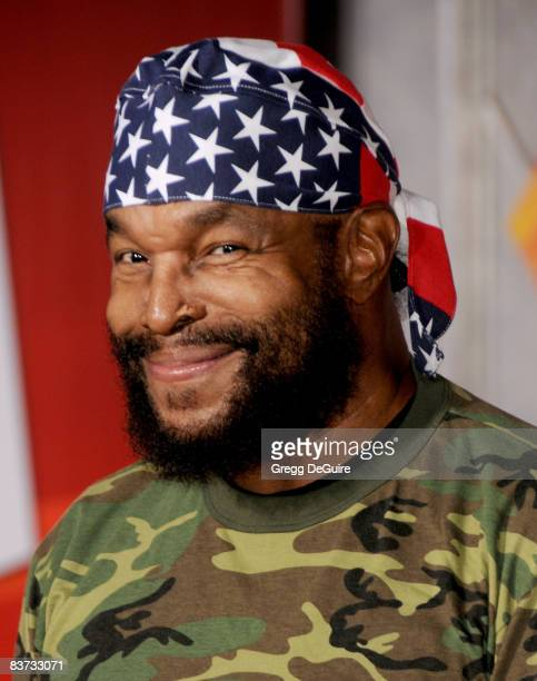 Actor Mr T arrives at the Los Angeles Premiere of Bolt at the El Capitan Theatre on November 17 2008 in Hollywood California