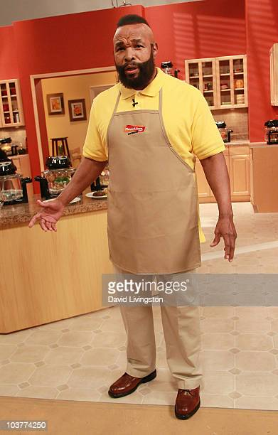Actor Mr T attends the infomercial filming for his FlavorWave Turbo Oven at Quixote Studios on September 1 2010 in Los Angeles California