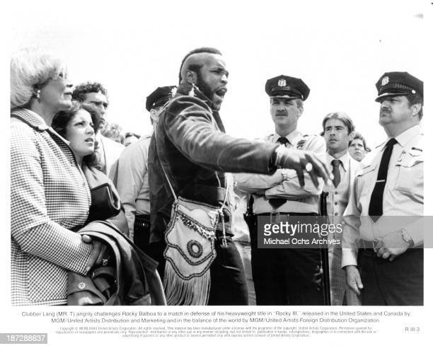 Actor Mr T on set of the MGM/United Artist movie Rocky III in 1982