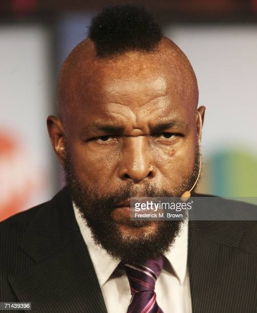 Actor Mr T speaks during the 2006 Summer Television Critics Association Press Tour for the TV Land Network at the Ritz Carlton Hotel on July 13 2006...