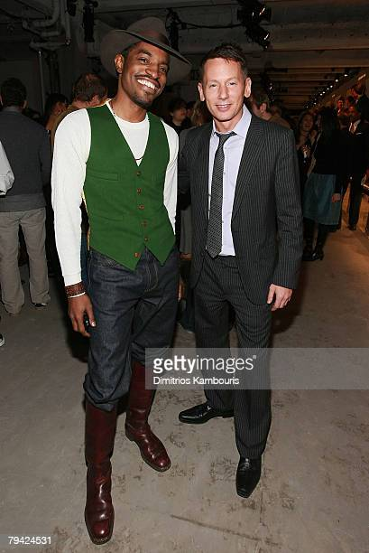 Actor /musician Andre 3000 and Jim Nelson attend the Best New Menswear Designers in America Their Fall 2008 Collections presented by GQ CFDA at 620...