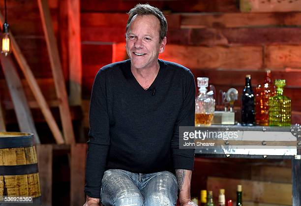 Actor/ musician Kiefer Sutherland appears during a press conference for his new country album 'Down In A Hole' on June 1 2016 in Nashville Tennessee