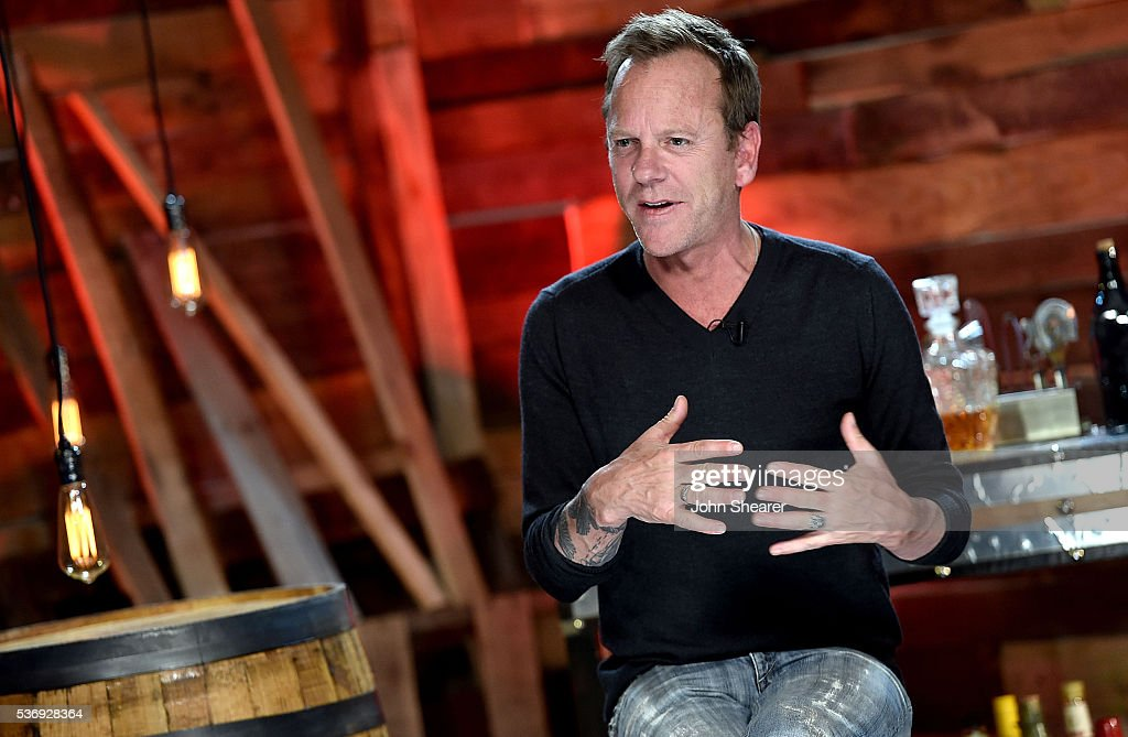 Actor/ musician Kiefer Sutherland appears during a press conference for his new country album, 'Down In A Hole,' on June 1, 2016 in Nashville, Tennessee.