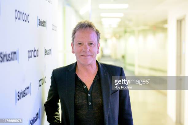 """Actor/ Musician Kiefer Sutherland discusses and performs songs from his new Album """"Reckless & Me"""" at SiriusXM Studios on September 23, 2019 in New..."""