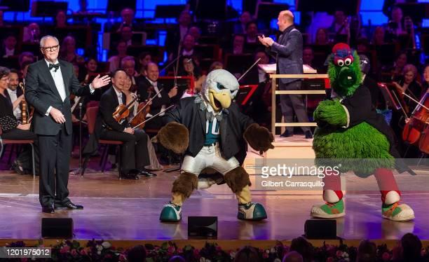 Actor, musician, poet, author, and singer John Lithgow, Philadelphia Orchestra Music Director Yannick Nezet-Seguin, Philadelphia Eagles Swoop and The...