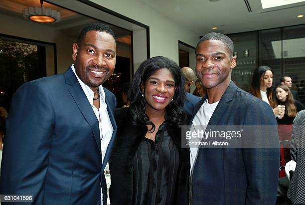 Actor Mykelti Williamson , actor Jovan Adepo and guest attend the Viola Davis Walk Of Fame Ceremony Luncheon at Spago on January 5, 2017 in...