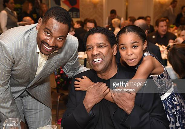 Actor Mykelti Williamson, actor/director Denzel Washington and actress Saniyya Sidney attend the 17th annual AFI Awards at Four Seasons Los Angeles...