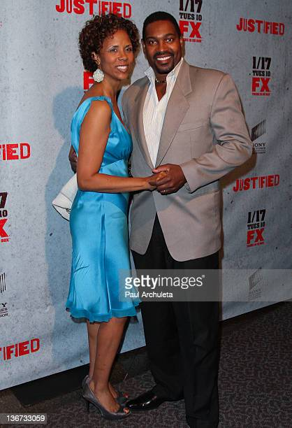Actor Mykelti Williamson and his wife Sondra Spriggs attend FX's Justified season 3 premiere screening at the Directors Guild Of America on January...