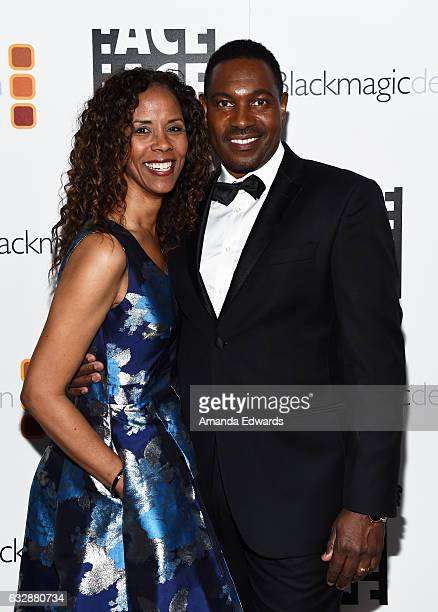 Actor Mykelti Williamson and Sondra Spriggs arrive at the 67th Annual ACE Eddie Awards at The Beverly Hilton Hotel on January 27 2017 in Beverly...
