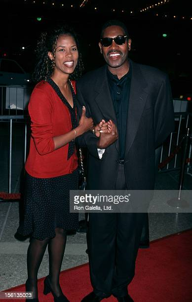Actor Mykelti Williamson and wife Sondra Spriggs attending the premiere of 'Most Wanted' on October 7 1997 at the Cineplex Odeon Cinema in Century...
