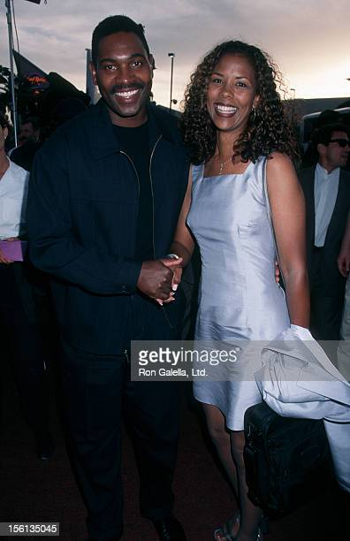 Actor Mykelti Williamson and wife Sondra Spriggs attending the premiere of 'Con Air' on June 2 1997 at the Hard Rock Horel and Casino in Las Vegas...