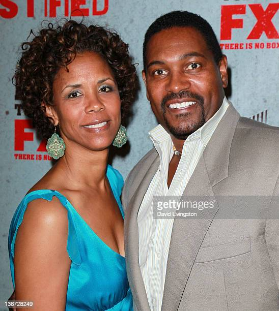 Actor Mykelti Williamson and wife Sondra Spriggs attends the premiere of FX Networks Sony Pictures Television's Justified Season 3 at the Directots...