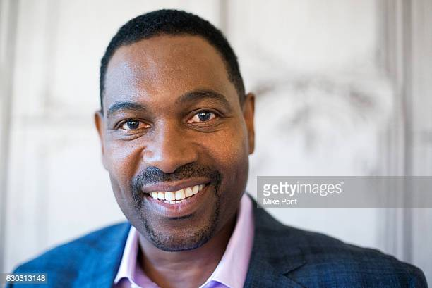 """Actor Mykelti Williamson attends Build Series to discuss """"Fences"""" at AOL HQ on December 20, 2016 in New York City."""